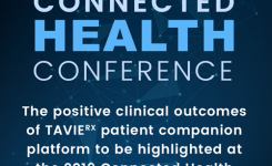 The positive clinical outcomes of TAVIE patient companion platform to be highlighted at the 2019 Connected Health Conference